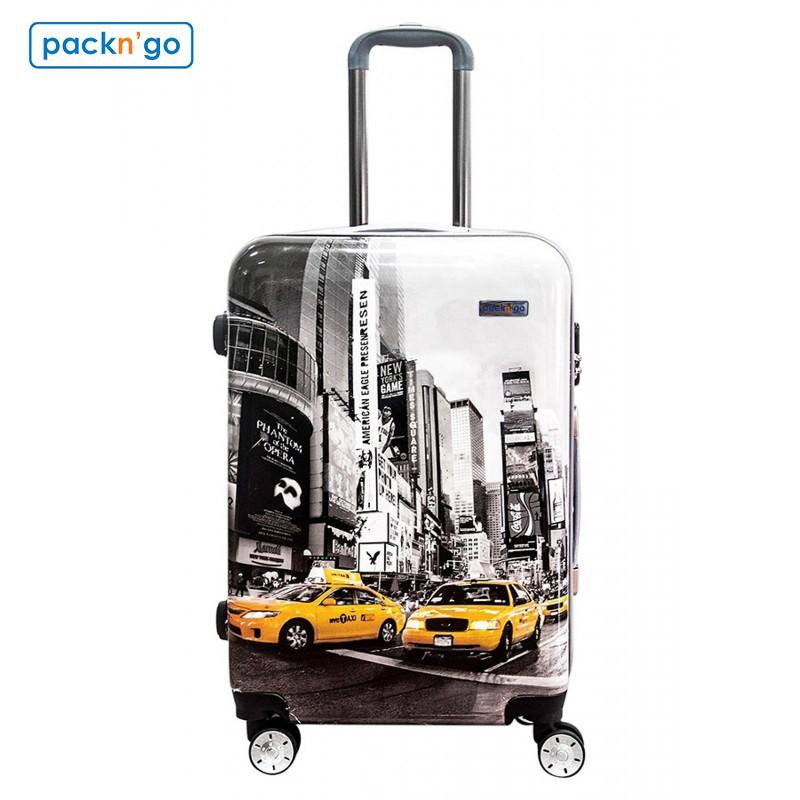 """Vali thời trang Pack n' Go 120M1 size 20"""" - Họa tiết xe vàng"""